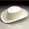 White Felt Cowboy Hat  Child